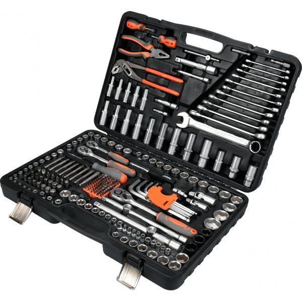 Galvučių, replių, raktų ir kitų įrankių rinkinys, 225vnt STHOR