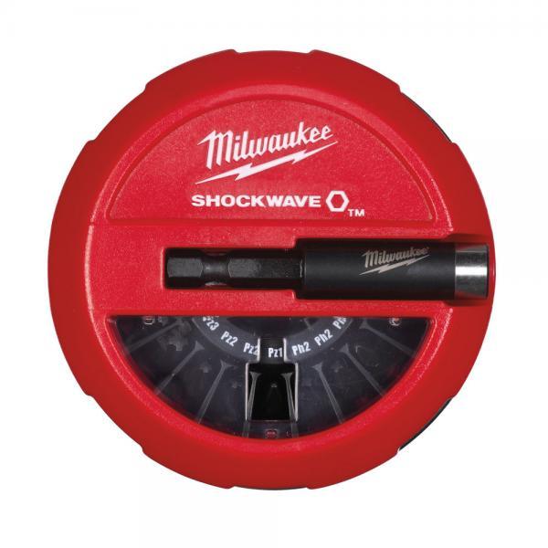 Sukimo antgalių komplektas SHW CD Milwaukee, 15 vnt (su magnetu)
