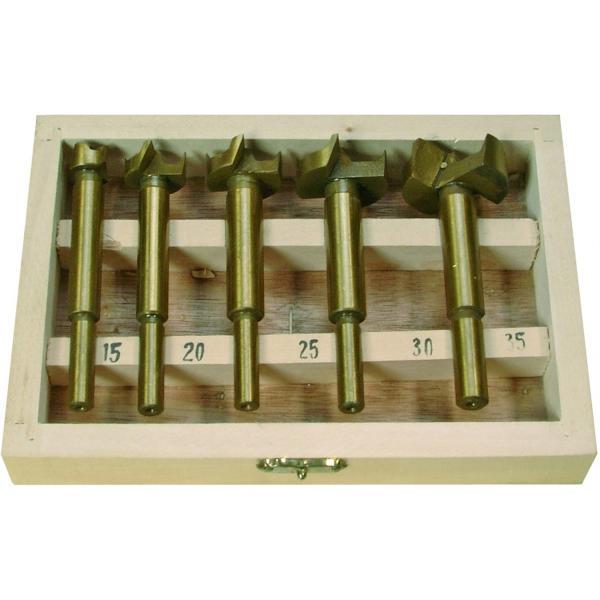 Frezų medžiui rinkinys, dengti titanu, 15-35 mm, 5 vnt