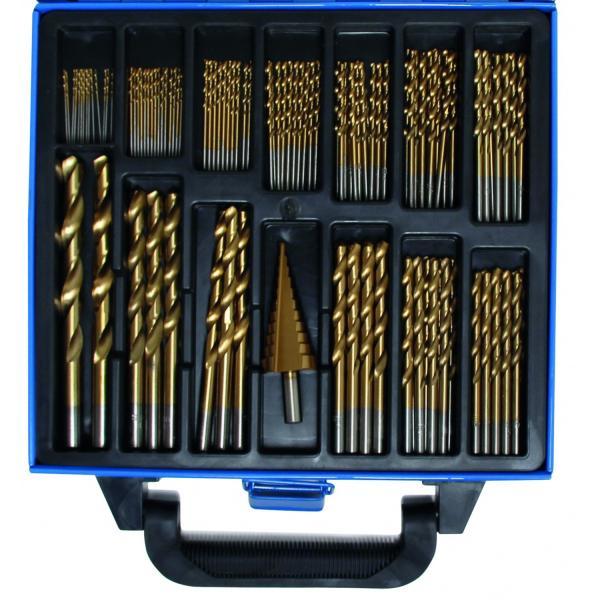 Grąžtai metalui + freza 1-10 mm, 119 vnt.