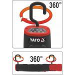 Akumuliatorinė darbo lempa 30+7 LED YATO