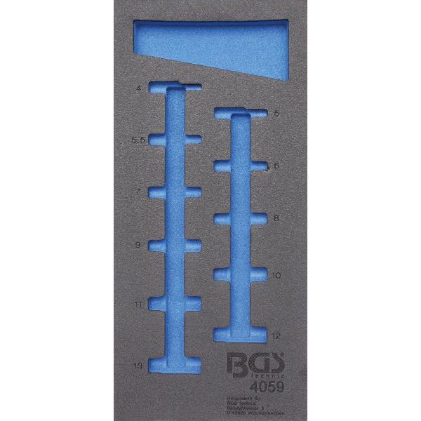 Įrankių dėklas 1/3, tuščias | 4059 pozicijai (4059-1)